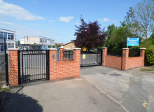 Primary School Automated Entrance Gates Installation - Waller Building Services - Kent