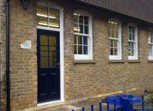 New Composite Classroom Door - Waller Building Services - Kent