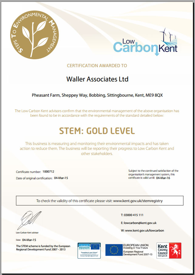 stem certification waller associates gold limited achieved