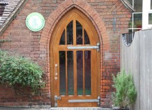 Oak Entrance Door Installation - Waller Building Services