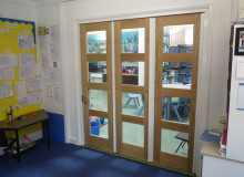 School Bi Fold Door Installation - Waller Services - Kent