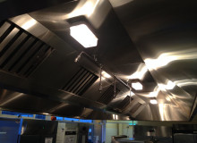 New School Kitchen Extractor Hood - Waller Building Services - Kent