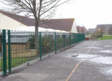 New Bow Top Playground Fencing - Waller Building Services