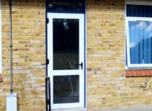 School UPVC Door Installation - Waller Glazing Services - Kent