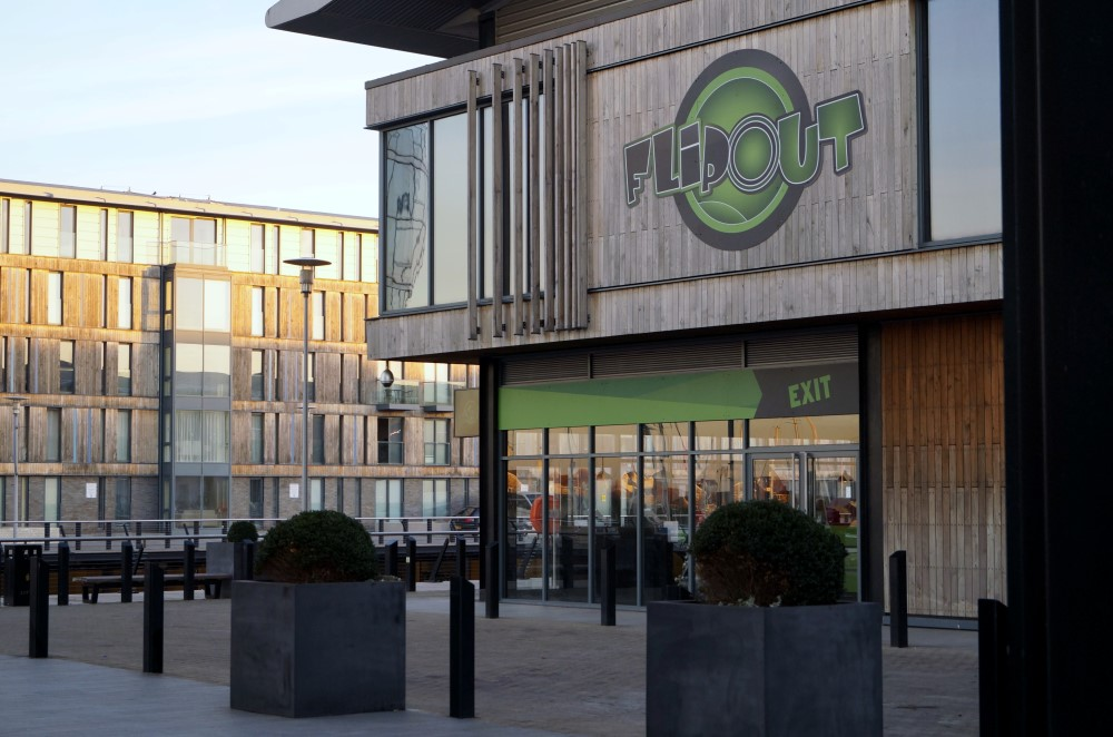 Trampoline Centre Shop front Installation - Waller Commercial Glazing Services - Kent