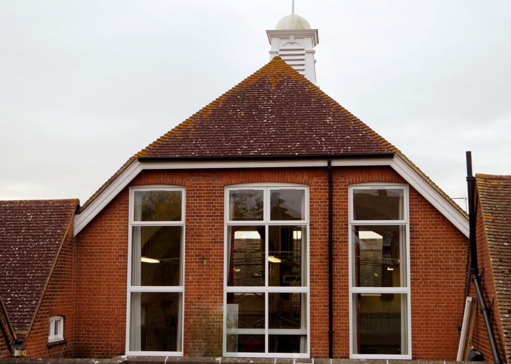 School Gym Window Installation - Waller Glazing Services