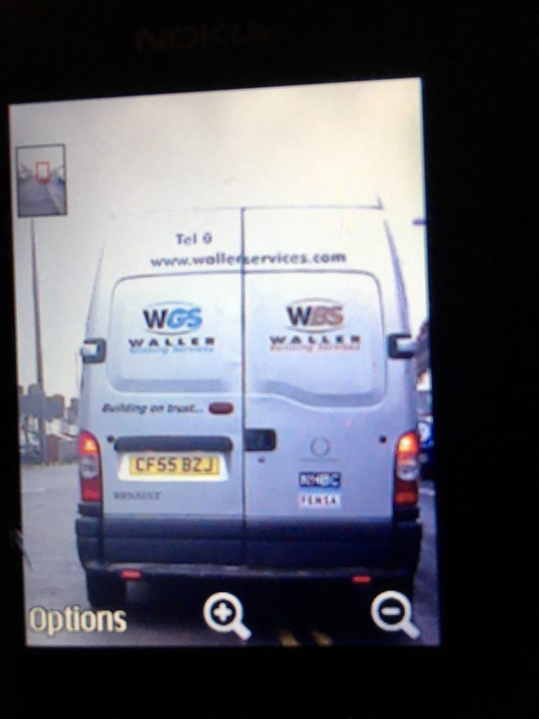 Criminals Using Old Waller Services Van