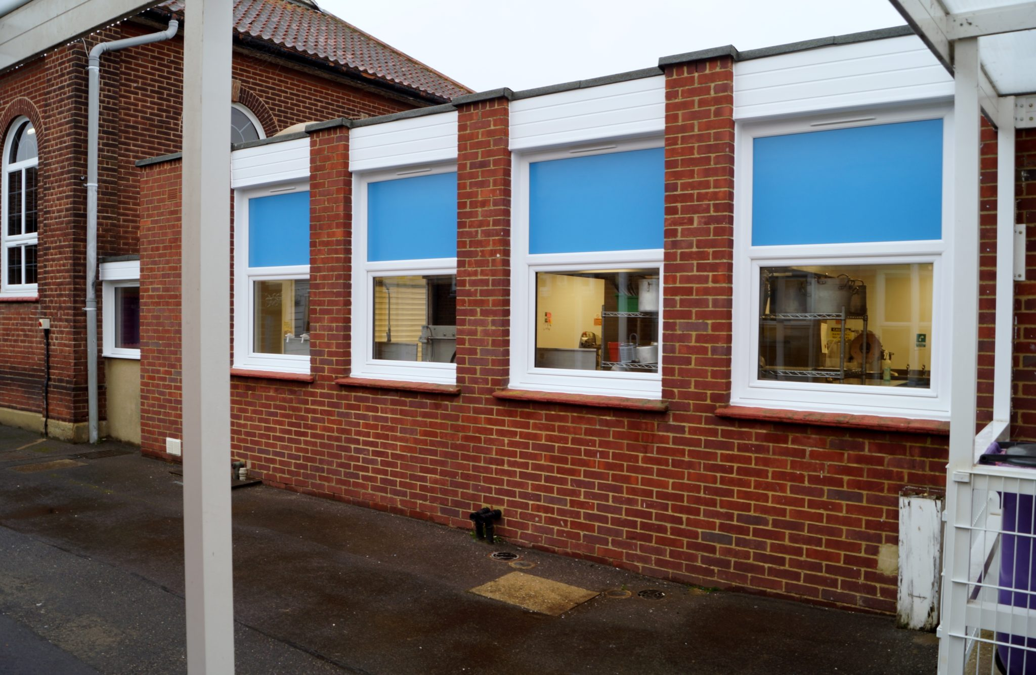 School's New Kitchen Windows