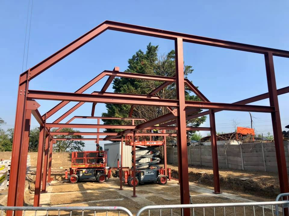 Office Steelworks Being Erected Today